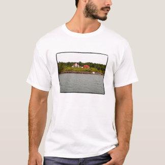 T-shirt Phare d'île de framboise