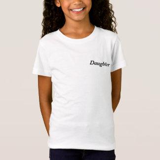 T-Shirt Photo de famille bleue personnalisée de nuage