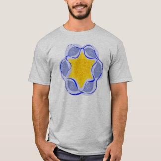 T-shirt Pièce en t abstraite de gris d'étoiles de mer