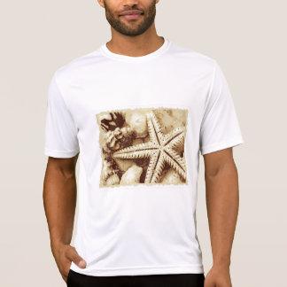 T-shirt Pièce en t active d'étoiles de mer et d'hommes de
