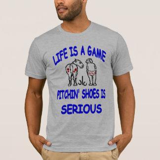 T-shirt Pièce en t américaine de base de fers à cheval