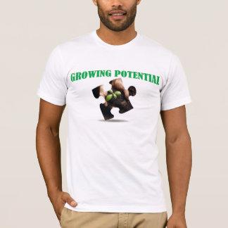 T-shirt Pièce en t américaine potentielle croissante