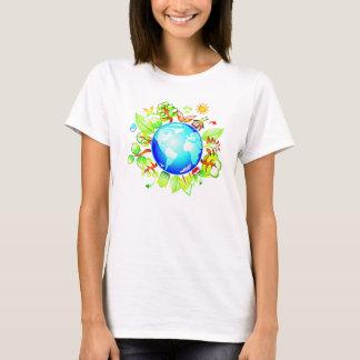 T-shirt Pièce en t amicale d'Eco de la terre verte