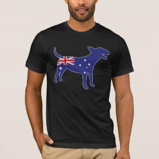 T-shirt Pièce en t anglaise australienne de bull-terrier