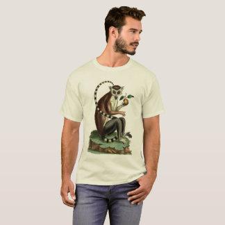 T-shirt Pièce en t Anneau-Coupée la queue de lémur :