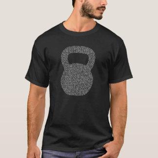 T-shirt Pièce en t blanche d'obscurité de Kettlebell