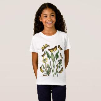 T-Shirt Pièce en t botanique vintage de papillon et de