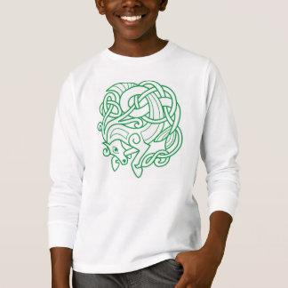 T-shirt Pièce en t celtique verte de cheval