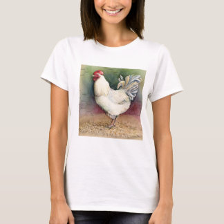 T-shirt Pièce en t courte de douille de coq