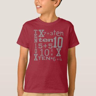 T-shirt Pièce en t d'ANNIVERSAIRE inspirée par MATHS de