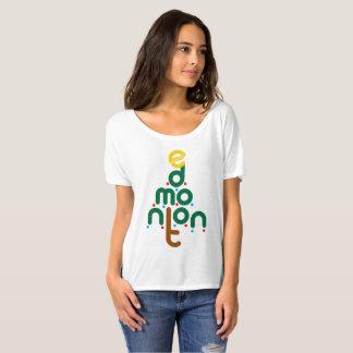 T-shirt Pièce en t d'arbre de Noël d'Edmonton