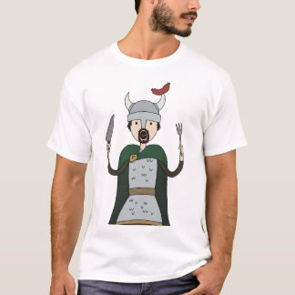 T-shirt Pièce en t d'art de caractère de Porc-Viking  
