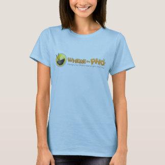 T-shirt pièce en t de Babydoll de dames de WhereThePho.com