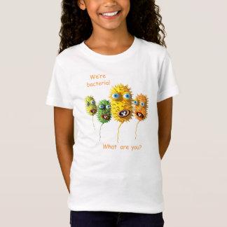 T-Shirt Pièce en t de bactéries de bande dessinée