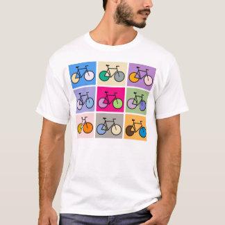 T-shirt Pièce en t de bicyclette d'art de Mondrian