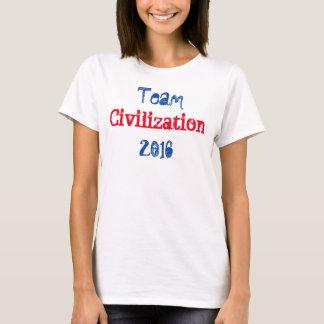 T-shirt Pièce en t de blanc de la civilisation 2016