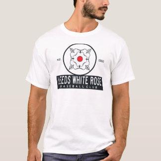 T-shirt Pièce en t de blanc de rose blanc de Leeds