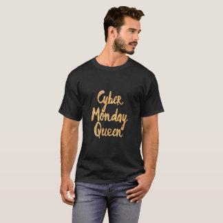 T-shirt Pièce en t de cadeau de la Reine de lundi de Cyber