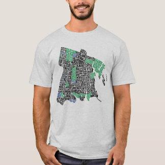 T-shirt Pièce en t de carte de typographie de Bronx New