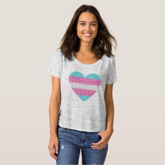 T-shirt Pièce en t de COEUR de MOSAÏQUE de TRANSSEXUEL