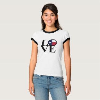 T-shirt Pièce en t de dames du Texas d'AMOUR