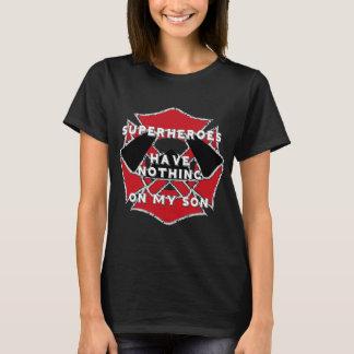 T-shirt Pièce en t de fils de sapeur-pompier
