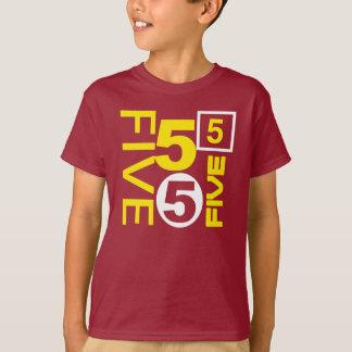 T-shirt PIÈCE EN T de graphique d'ANNIVERSAIRE de