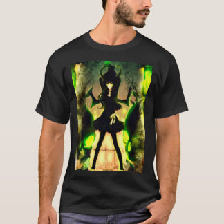 T-shirt Pièce en t de graphique d'art d'aerographe de