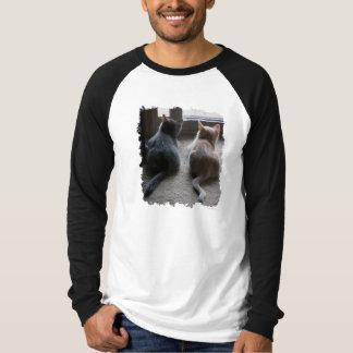 T-shirt Pièce en t de la Long-Douille des hommes de jaspe