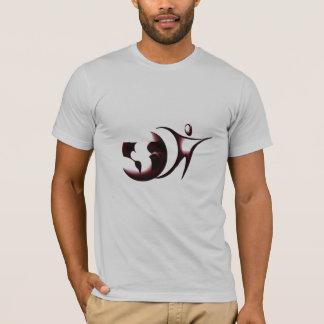 T-shirt Pièce en t de logo d'Amizade