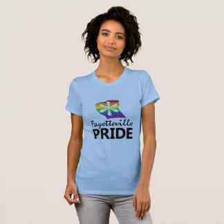 T-shirt Pièce en t de logo de fierté de Fayetteville
