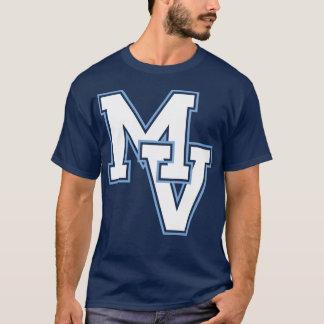 T-shirt Pièce en t de logo de vallée d'érable - marine