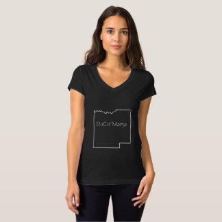 T-shirt Pièce en t de maman Black Short Sleeve V-Cou de