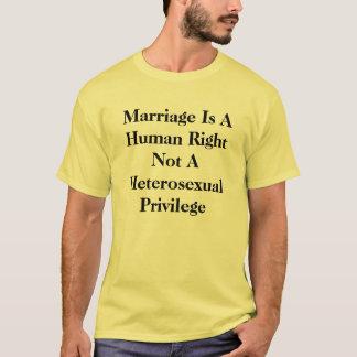 T-shirt Pièce en t de mariage homosexuel