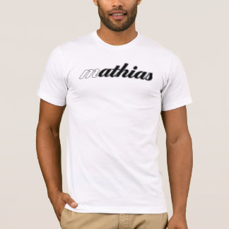 T-shirt Pièce en t de Mathias, calorie blanche !