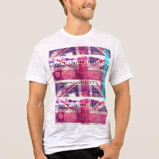 T-shirt pièce en t de mélange des années 80