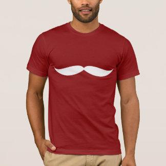 T-shirt Pièce en t de moustache (canneberge)