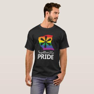 T-shirt Pièce en t de noir de fierté de Fayetteville