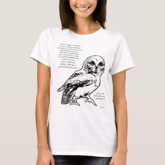 T-shirt Pièce en t de poème de hibou de danse