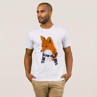 T-shirt Pièce en t de port rouge d'art d'écharpe d'hiver