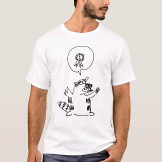 T-shirt Pièce en t de raton laveur du #1 d'Owly