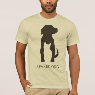 T-shirt Pièce en t DE RECHANGE de logo - brun sur la crème