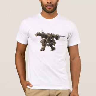 T-shirt Pièce en t de robot de la science fiction