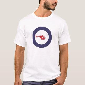 T-shirt Pièce en t de rondeau d'hélicoptère