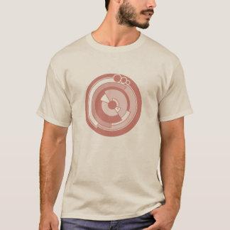 T-shirt pièce en t de rouge foncé de cercle de culture de