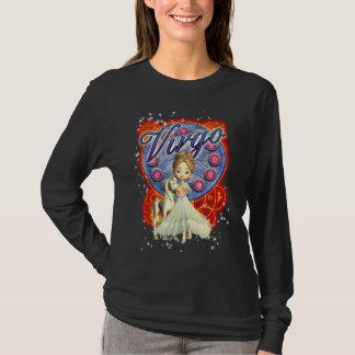 T-shirt Pièce en t de Sleve de zodiaque de Vierge longue