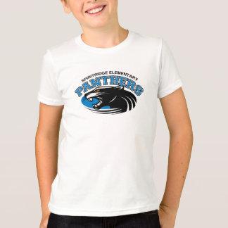 T-shirt Pièce en t de sonnerie de panthère (blanc/noir)