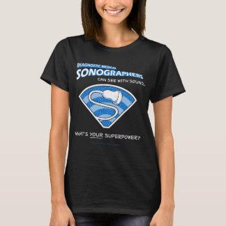 T-shirt Pièce en t de Sonographer de super héros
