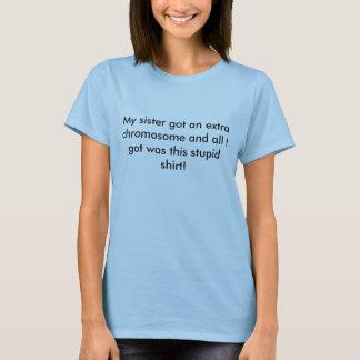 T-shirt Pièce en t de syndrome de Down Ladie adapté par