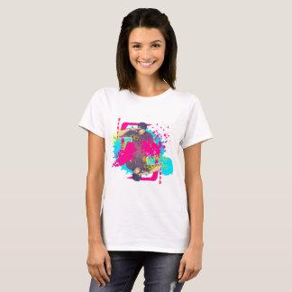 T-shirt Pièce en t d'éclaboussure de peinture de Qeuyl